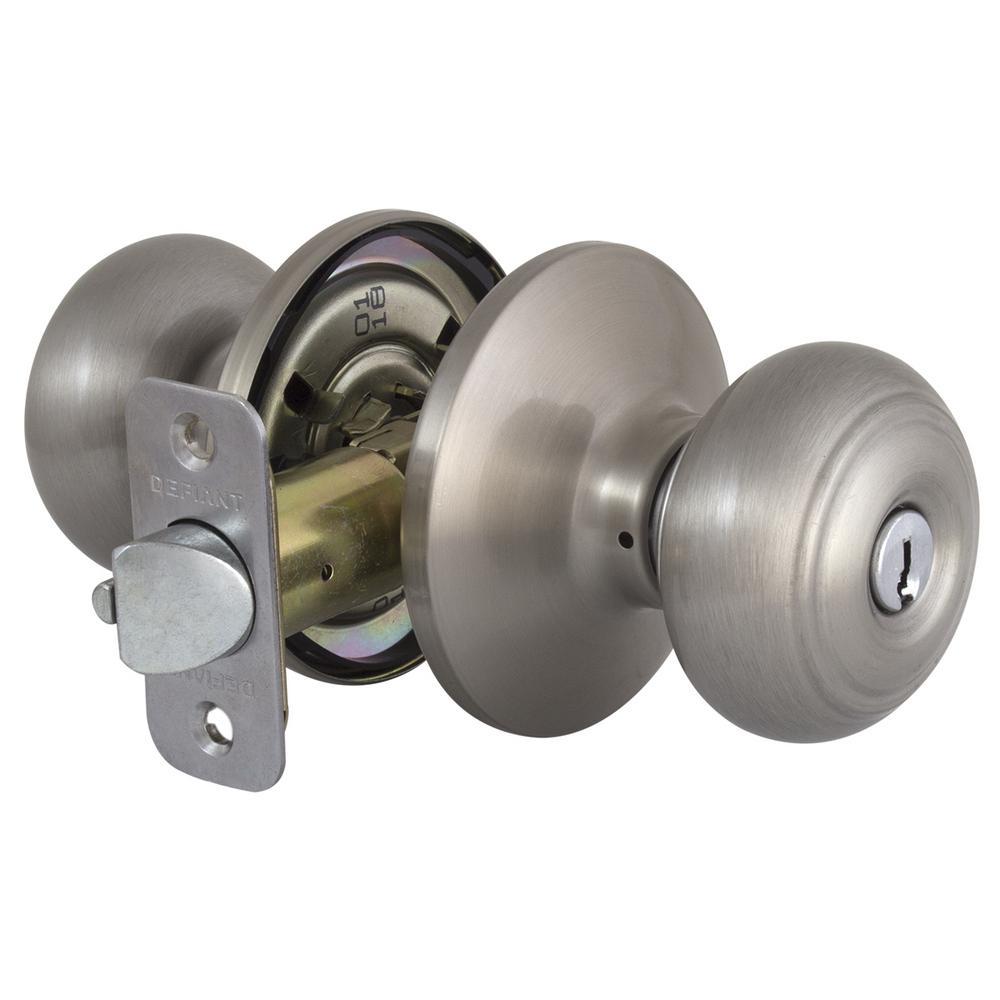 Toledo Fine Locks Barcelona Satin Nickel Keyed Entry Door