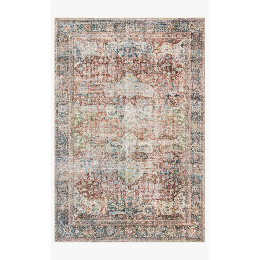 HomeRoots Bernadette Sunset 3 ft. x 7 ft. Floral Polypropylene Area Rug