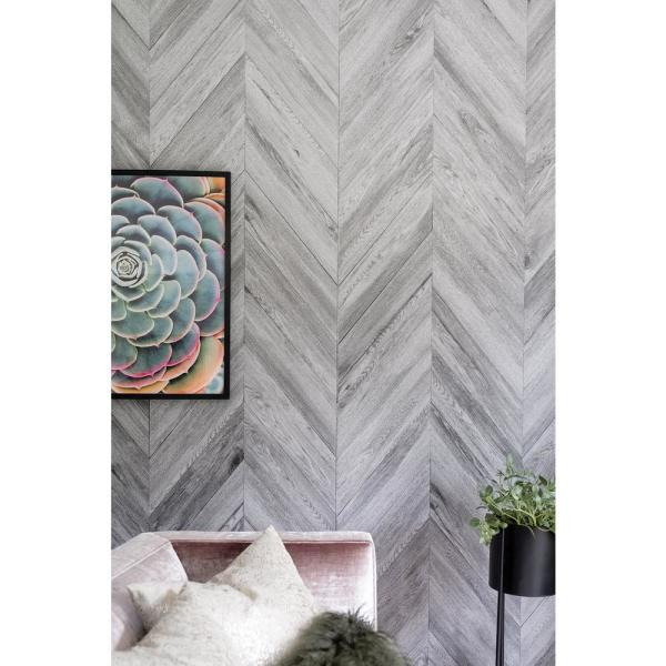 32 Sq Ft 1 4 In X 48 In X 96 In Mdf Chevron Whistler Paneling Panch I48w The Home Depot