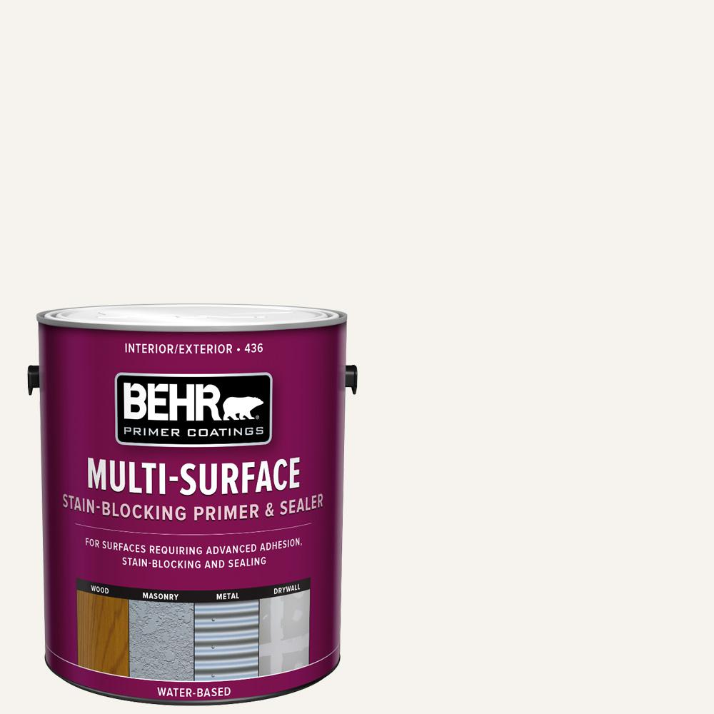 BEHR 1 Gal. White Acrylic Interior/Exterior Multi-Surface Stain-Blocking Primer and Sealer