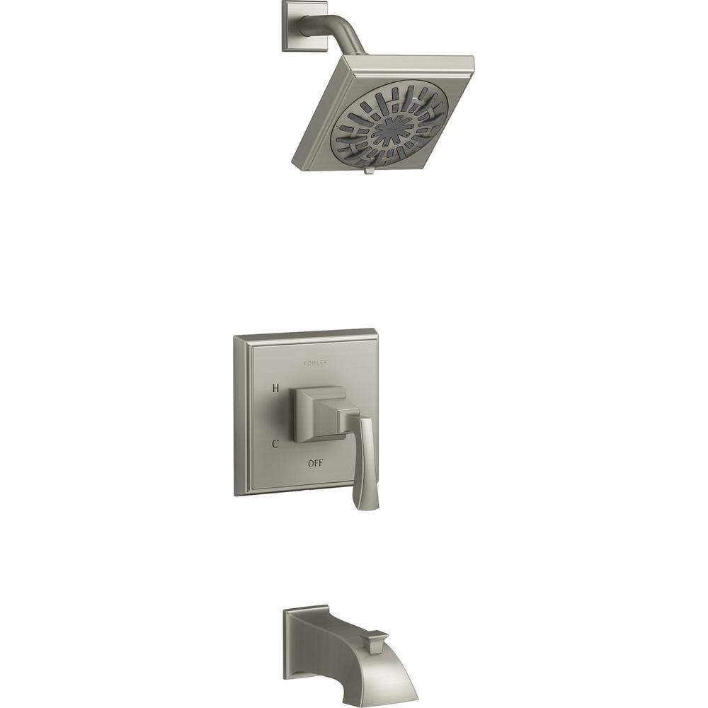 Kallan Rite-Temp Single-Handle 1-Spray Tub and Shower Faucet in Vibrant Brushed
