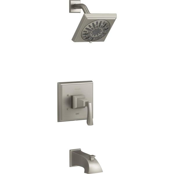 Kallan Rite-Temp Single-Handle 1-Spray Tub and Shower Faucet in Vibrant Brushed Nickel (Valve Included)