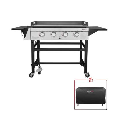 Royal Gourmet 4-Burner Gas Griddle w/ a Cover in Steel