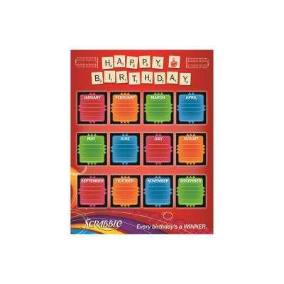 17 in. x 22 in. Scrabble Birthday Poster