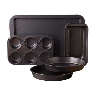 Kitchen Bake 5-Piece Gray Bakeware Set