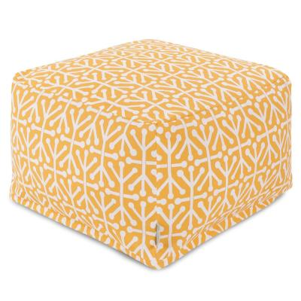 Citrus Yellow Aruba  Indoor/Outdoor Ottoman Cushion