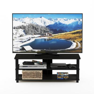 Sully 41 in. Espresso and Black Wood TV Console Fits TVs Up to 50 in. with Open Storage