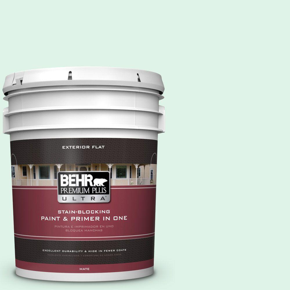 BEHR Premium Plus Ultra 5-gal. #470A-1 Window Pane Flat Exterior Paint