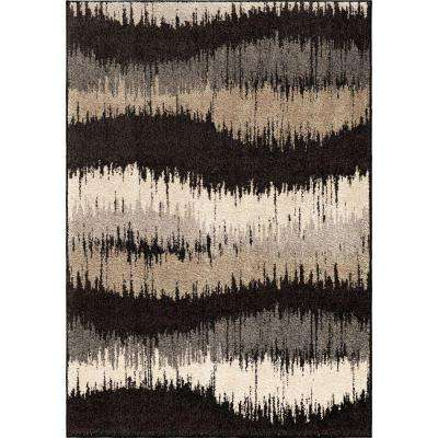 Electric Waves Multi 8 ft. x 11 ft. Urban Stripes Indoor Area Rug