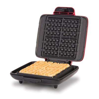 No Mess Waffle Maker in Red