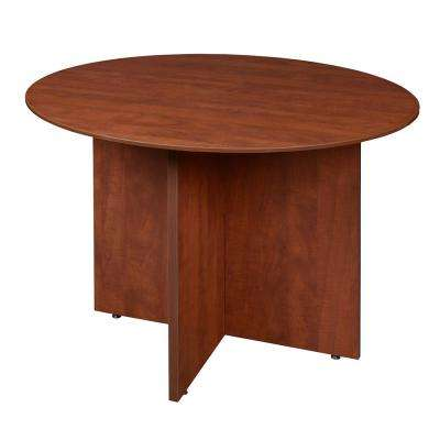 Sandia 42 in. Cherry Round Conference Table