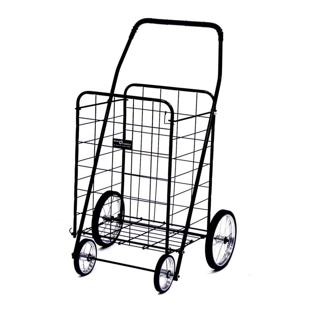 Easy Wheels Jumbo Shopping Cart in Black