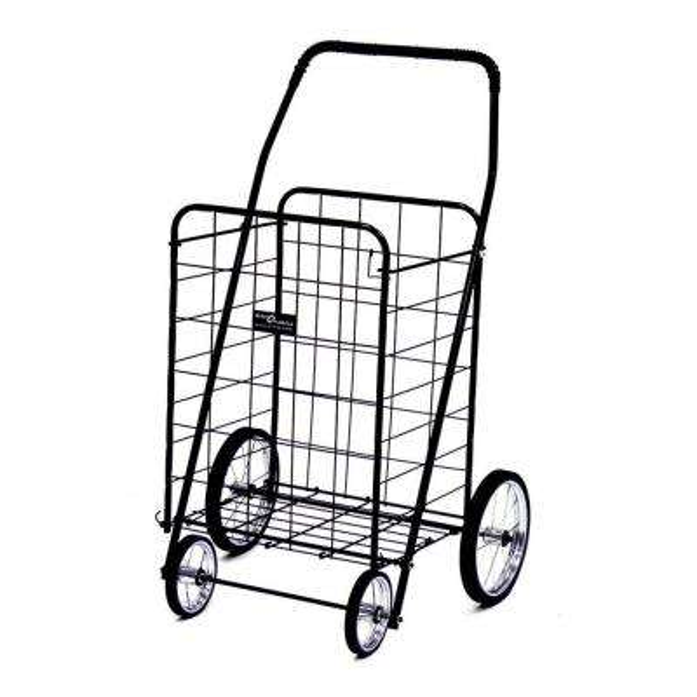 Jumbo Shopping Cart in Black