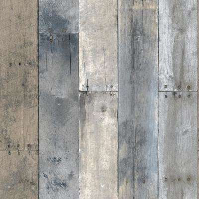 Multicolored Repurposed Wood Wallpaper