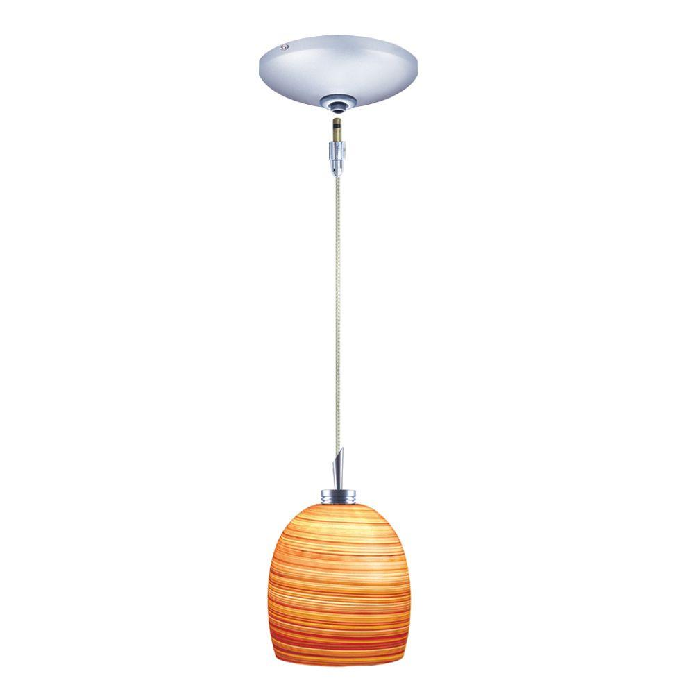 Low Voltage Quick Adapt 4-3/4 in. x 103-1/8 in. Brown Pendant