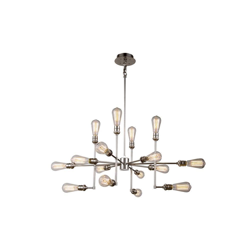 Elegant Lighting Ophelia 15-Light Polished Nickel Pendant
