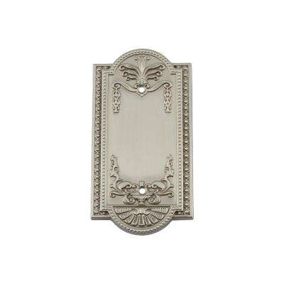 Meadows Switch Plate with Blank Cover in Satin Nickel