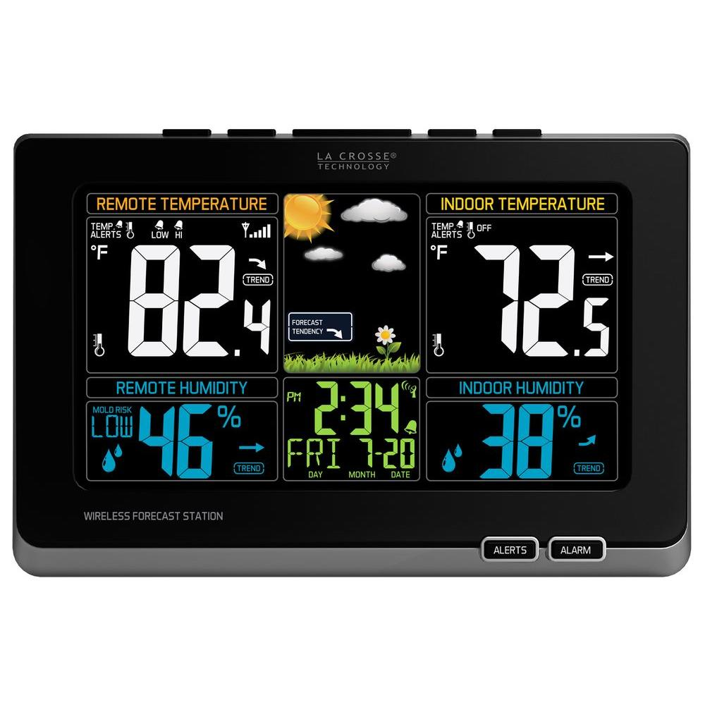 Digital Wireless Color Weather Station With Mold Indicator In Black