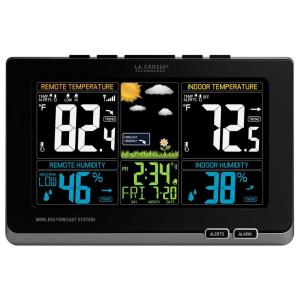 La Crosse Technology Digital Wireless Color Weather Station with Mold Indicator in Black by La Crosse Technology