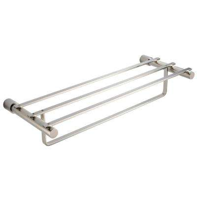 Magnifico 23 in. Towel Rack in Brushed Nickel