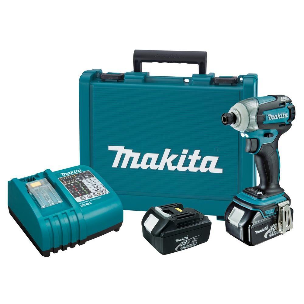 Makita 18-Volt LXT Lithium-Ion Brushless Cordless 3-Speed Impact Driver Kit