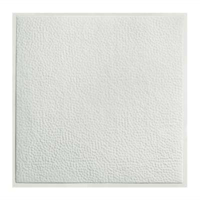 Chicago 2 ft. x 2 ft. Lay-In Tin Ceiling Tile in Matte White (Case of 5)