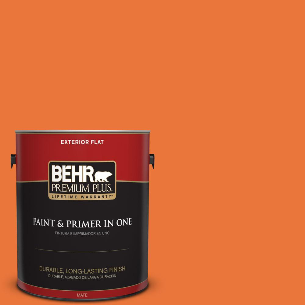 BEHR Premium Plus Home Decorators Collection 1-gal. #HDC-MD-27 Tart Orange Flat Exterior Paint