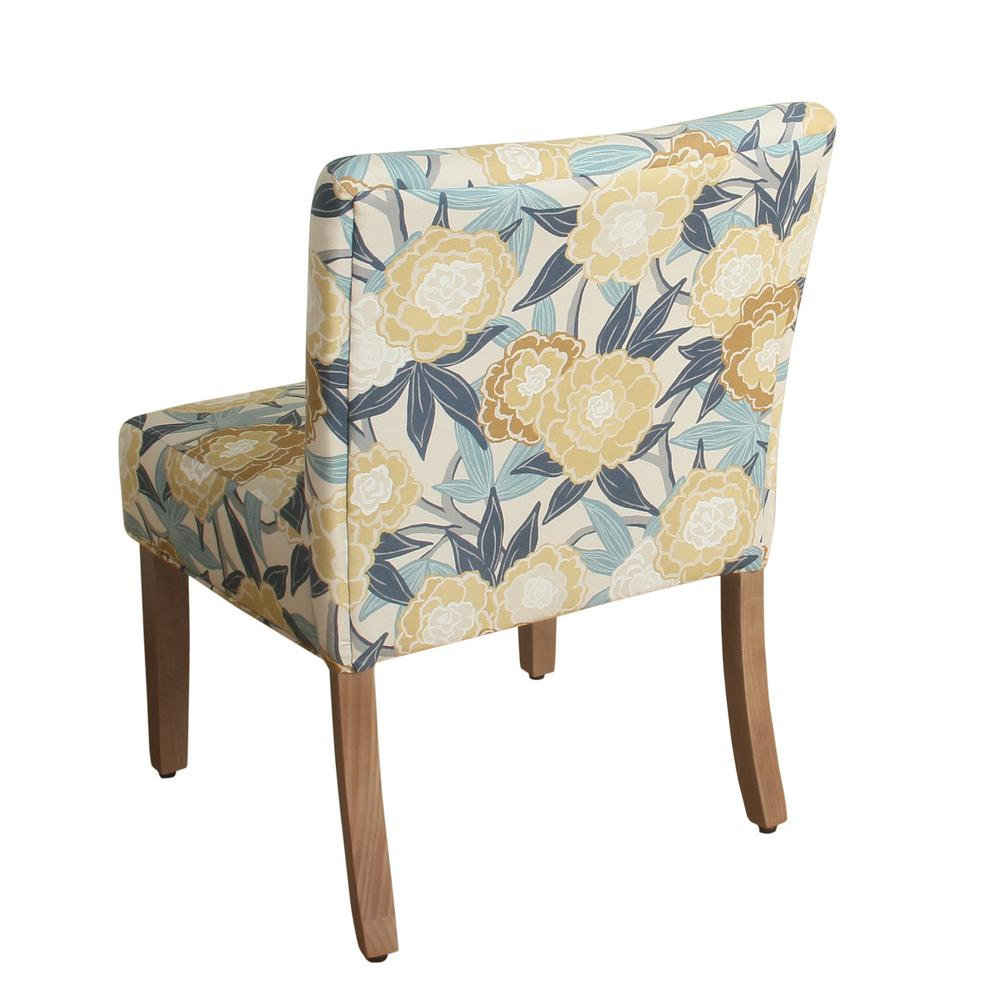 Homepop Printed Yellow And Blue Fl Parker Accent Chair