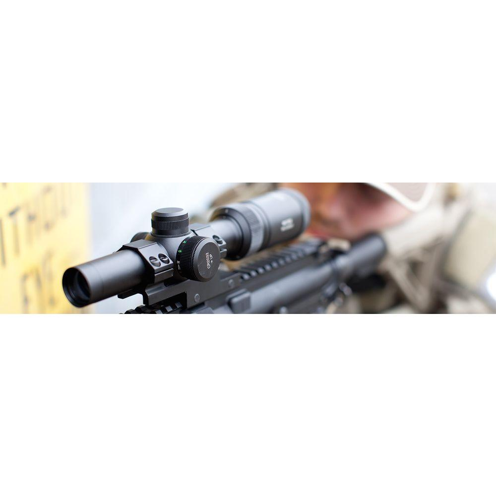 Crosman CenterPoint 1-4 in  x 20 mm MSR Rifle Scope with Glass Reticle and  Offset Picatinny Mount