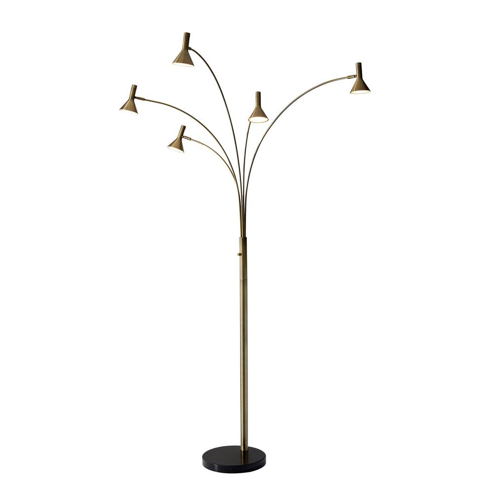 Adesso maxwell 76 in integrated led brass arc floor lamp 3485 21 integrated led brass arc floor lamp aloadofball Gallery