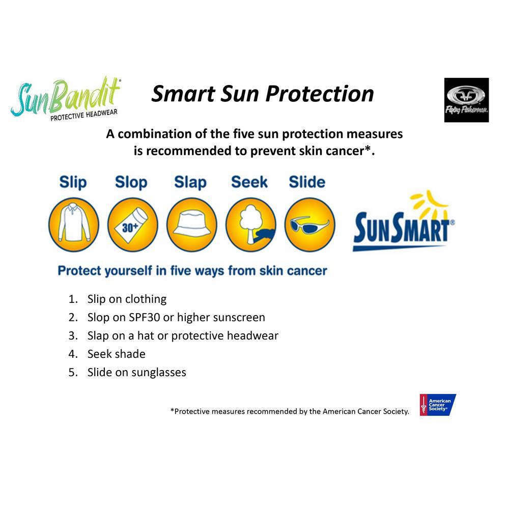 Flying Fisherman SunBandit Masque de Protection UV pour Le Visage Bandana Multifonctionnel jusqu/à 12 fa/çons