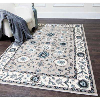 Oxford Taupe 8 ft. x 10 ft. Indoor Area Rug