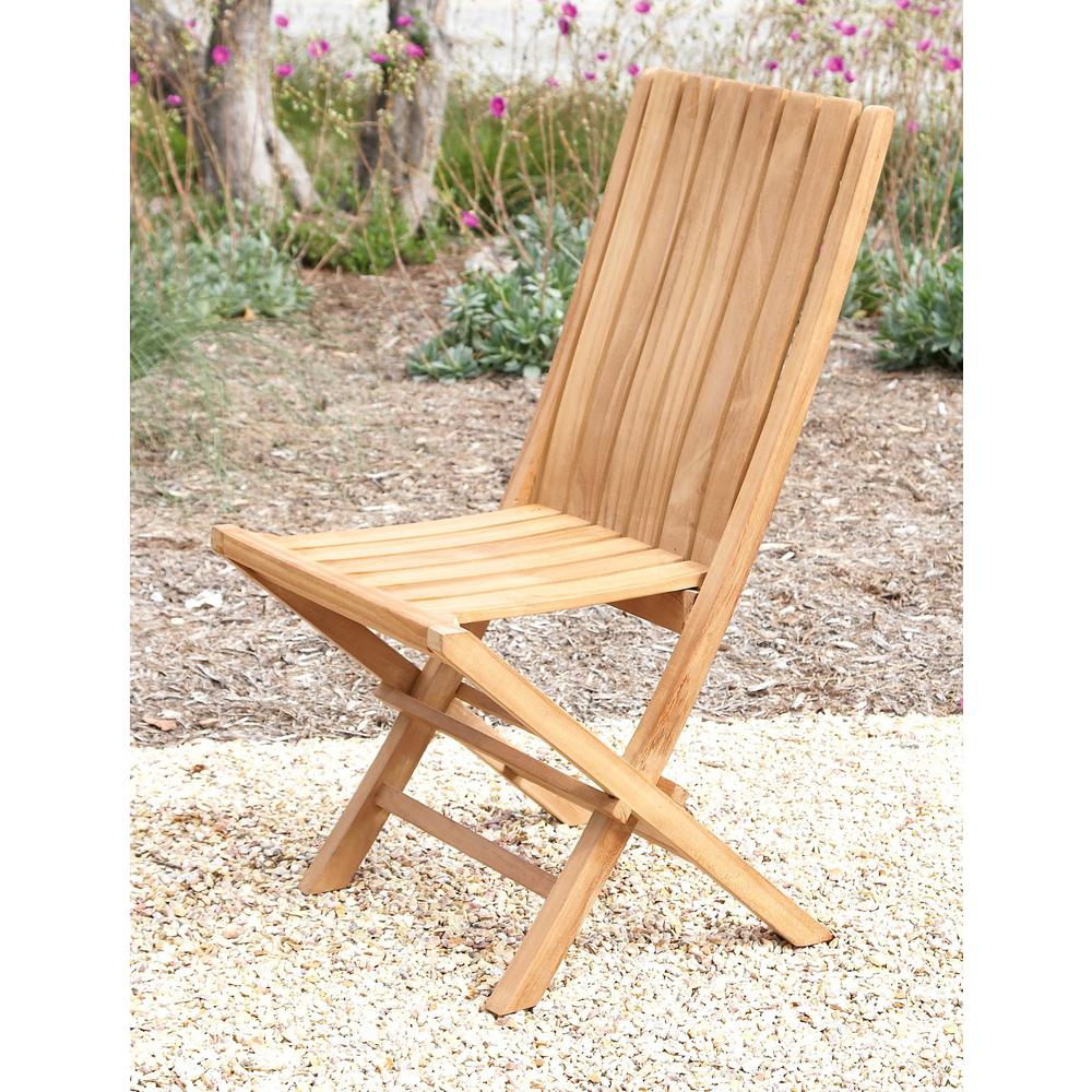 brown teak wood folding chair 92455 the home depot