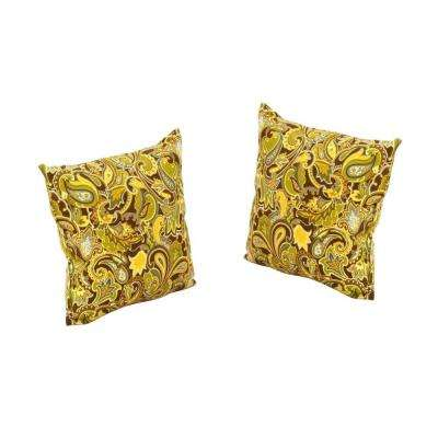 Charlottetown Green Bean Outdoor Throw Pillow (2-Pack)