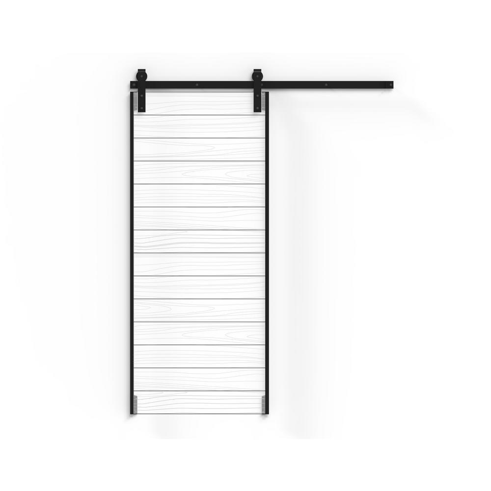 DIY Flat Black Steel Barn Door Frame