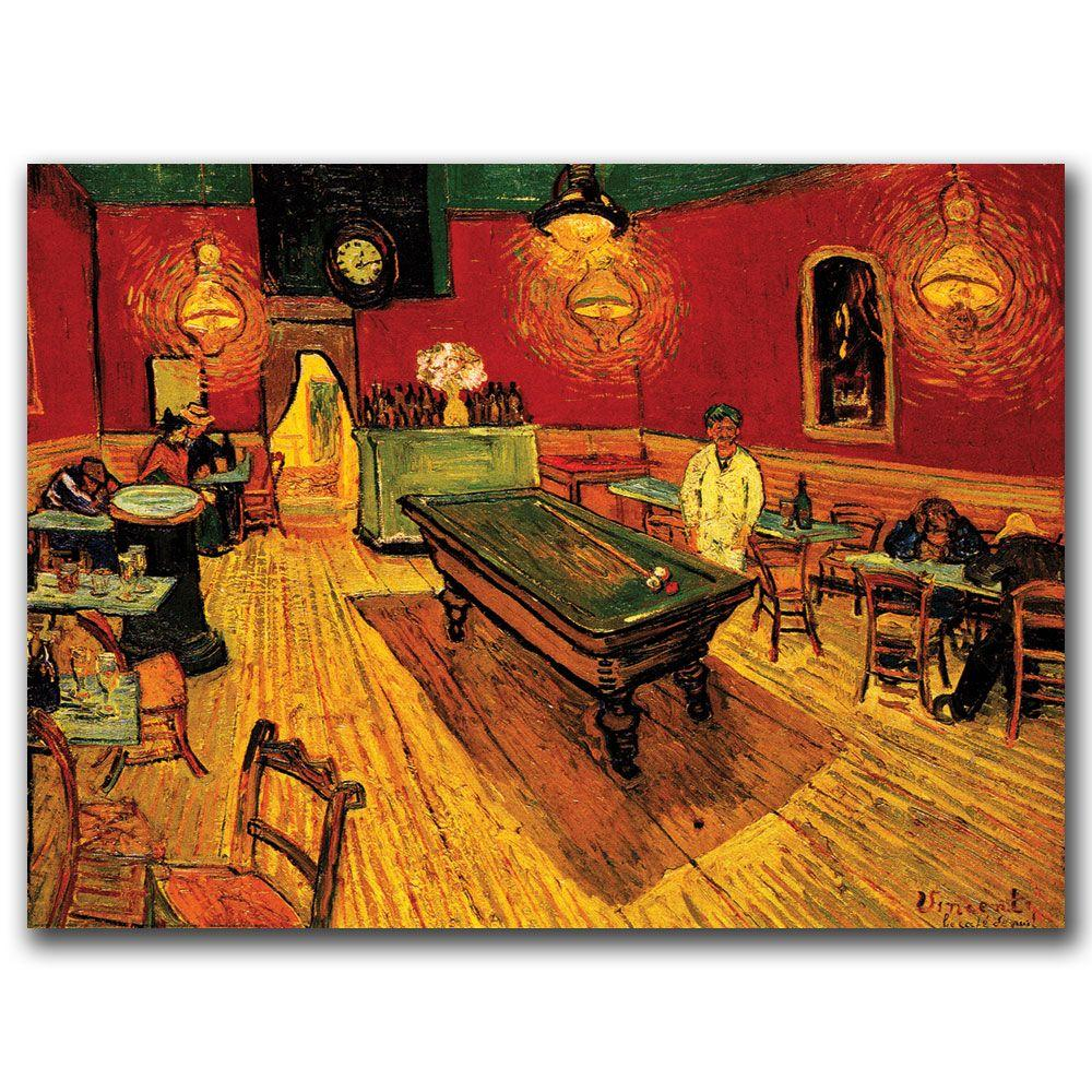 Trademark Fine Art 14 in. x 19 in. The Night Cafe Canvas Art