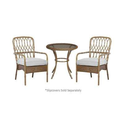 Clairborne 3-Piece Patio Bistro Set with Cushion Insert (Slipcovers Sold Separately)