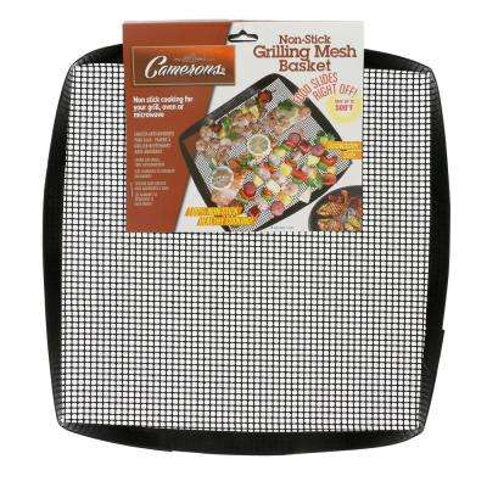 Non-Stick Grilling Mesh Basket and Non-Stick Grilling Mesh Sheet Set
