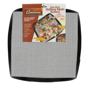Non-Stick Grilling Mesh Basket and Non-Stick Grilling Mesh Sheet Set by