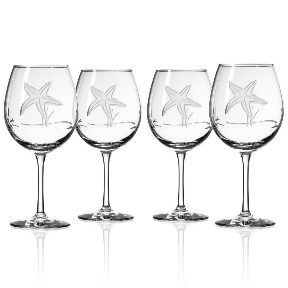 Starfish 18 fl. oz. Balloon Wine Glasses (Set of 4)