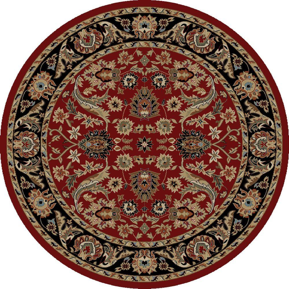 concord global trading ankara sultanabad red 5 ft 3 in round area rug 62000 the home depot. Black Bedroom Furniture Sets. Home Design Ideas