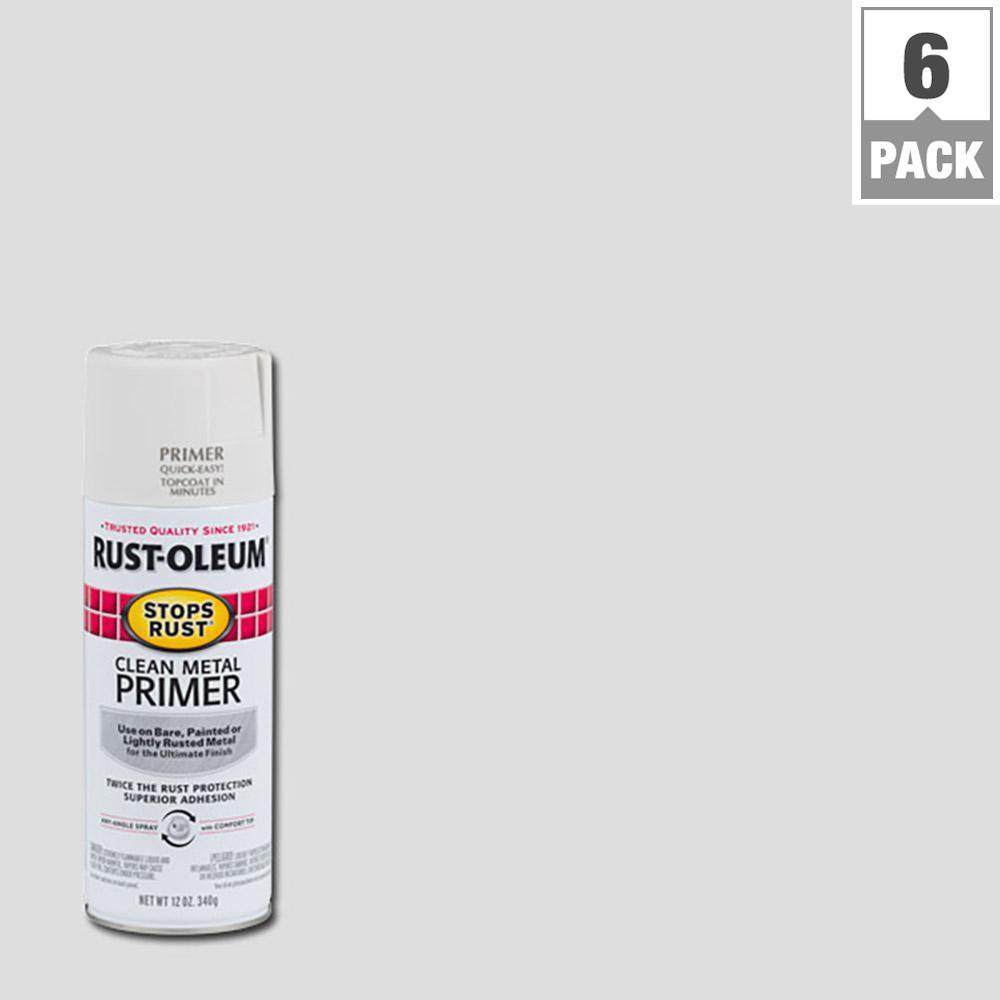 Rust-Oleum Stops Rust 12 oz. Clean Metal Primer Spray Paint (6-Pack)