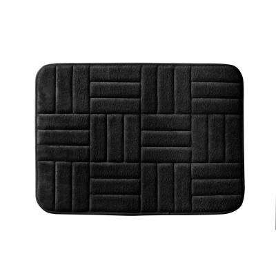 Parqeut 17 in. x 24 in. Bath Rug in Black