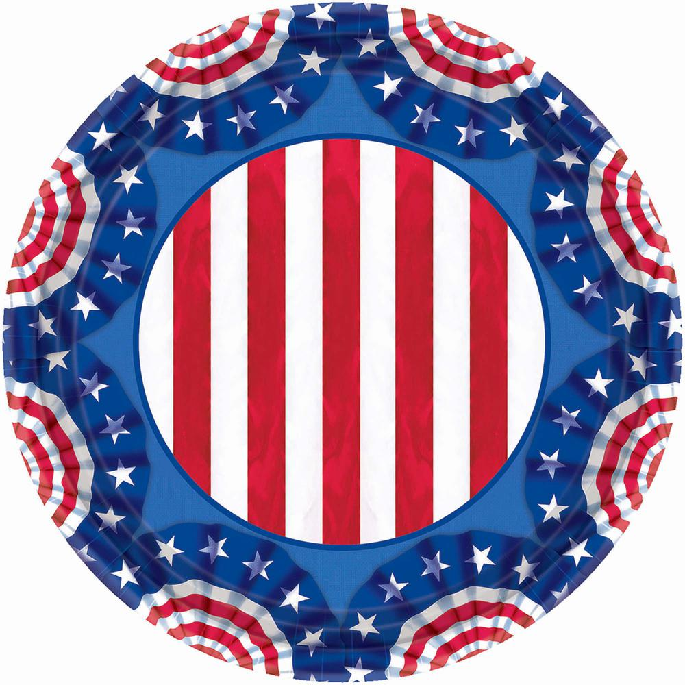9 in. x 9 in. American Pride Plates (60-Count)