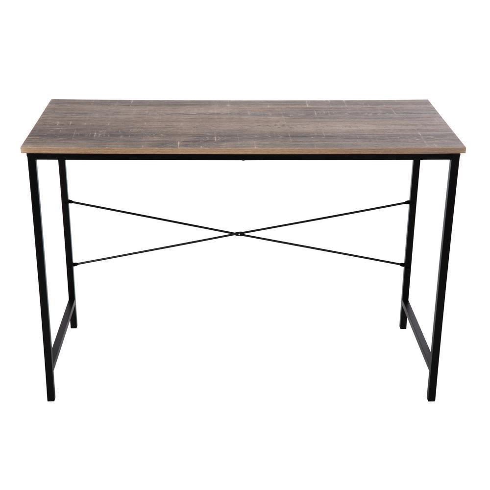 Tribeca Weathered Wood Studio Desk in Brown