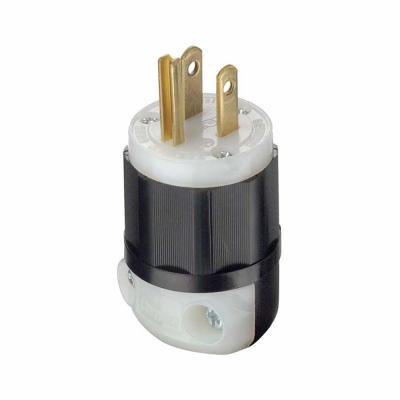 Leviton 5266-C 10 Pack 15 Amp 125V Industrial Grade Blac.. New Grounding Plug