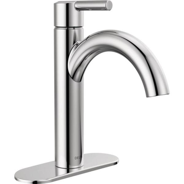 Nicoli Single Hole Single-Handle Bathroom Faucet in Chrome