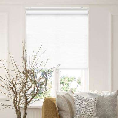 Snap-N'-Glide Felton White Polyester Cordless Horizontal Roller Shades - 48 in. W x 72 in. L