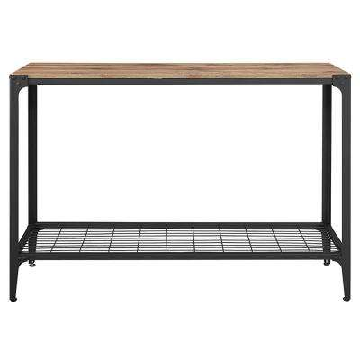 Angle Iron Barnwood Console Table