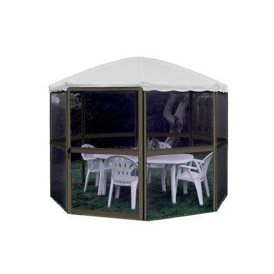 13 ft. x 8 ft. Round All Season Aluminum Gazebo